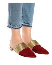 Aquazzura Red Slippers Rendez Vous