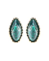 Givenchy - Green Post Earrings - Lyst