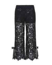 Ganni Black Duval Lace Culottes