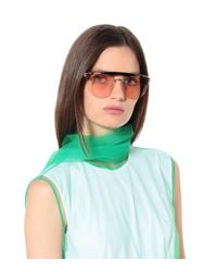 Prada Pink Ornate Aviator Sunglasses