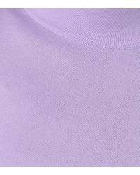 Les Rêveries Purple Longsleeve mit Stehkragen