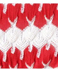 Bikini de triángulo de croché Missoni de color Red