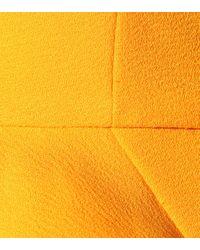 Rebecca Vallance Yellow Minikleid aus Crêpe