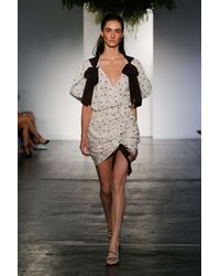 Zimmermann White Painted Heart Cotton And Silk Dress