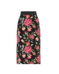Dolce & Gabbana Multicolor Floral-printed Skirt