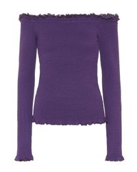 Altuzarra Purple Off-Shoulder-Top