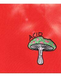 Ganni Red Bedruckter Pullover aus Baumwolle