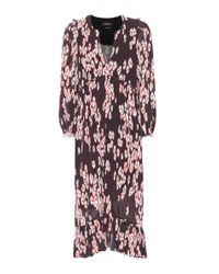Abito plissé Wenda a stampa floreale di Isabel Marant in Purple