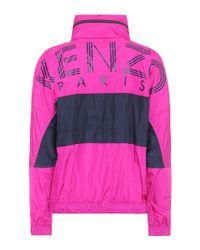 Veste imperméable imprimée KENZO en coloris Purple