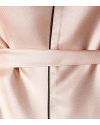 Prada Pink Feather Trimmed Silk Shirt
