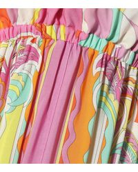 Robe longue imprimée Emilio Pucci en coloris Multicolor