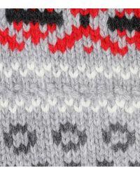 Pullover in lana jacquard di Miu Miu in Gray