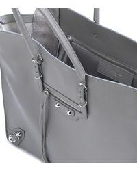 Balenciaga - Gray Papier B4 Zip-around Leather Shoulder Bag - Lyst