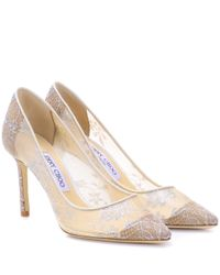 Escarpins en dentelle Romy 85 Jimmy Choo en coloris White