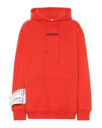 Vetements Red Bestickter Hoodie aus Baumwolle