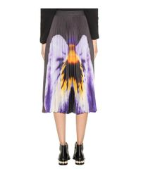 Christopher Kane Multicolor Printed Pleated Skirt