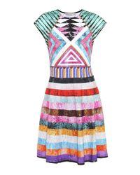 Mary Katrantzou Multicolor Pinto Printed Jersey Dress