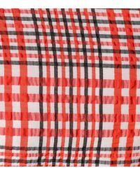 Ganni Red Checked Minidress