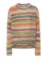 Pull en mohair et alpaga mélangés Acne en coloris Multicolor