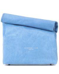 Sac en cuir Lunch Bag 20 cm Simon Miller en coloris Blue