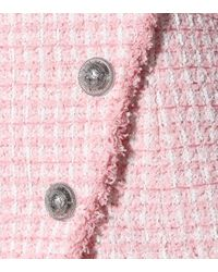 Balmain Pink Minikleid aus Tweed