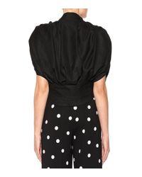 Jacquemus Black Bluse Le Haute Madame aus Wolle