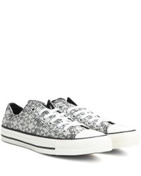 Converse - Gray Chuck Taylor All Star Ox Sneakers - Lyst
