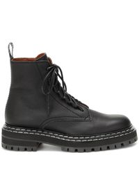 Proenza Schouler Black Ankle Boots aus Leder