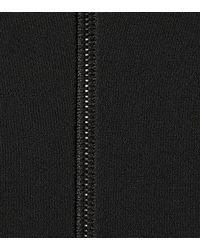 David Koma Black Crop-Top aus Cady