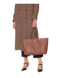 – Cabas Rockstud en cuir Valentino Garavani en coloris Brown
