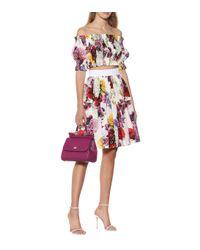 Falda de popelín de algodón floral Dolce & Gabbana de color Multicolor