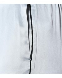 Asceno Blue Pyjama-Hose aus Seidensatin