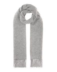 Acne Gray Schal Canada Narrow New Aus Hellgrauer Wolle