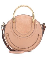 Chloé Natural Pixie Leather And Suede Shoulder Bag