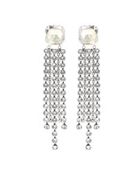 Isabel Marant - Metallic Crystal-embellished Earrings - Lyst