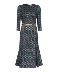 Dolce & Gabbana Multicolor Diamond-jacquard Midi Dress
