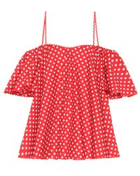 Anna October Red Dotted Cotton Top