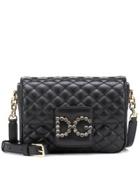 Borsa DG Millennials Small in pelle di Dolce & Gabbana in Black