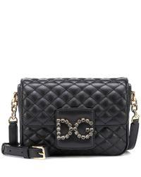 Dolce & Gabbana Black Schultertasche DG Millennials Small