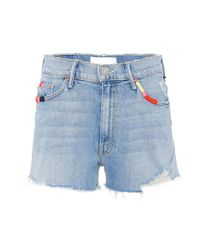 Mother Blue Easy Does It Denim Shorts