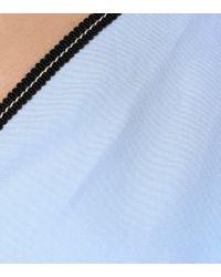 Top off-the-shoulders in cotone di Mugler in Blue