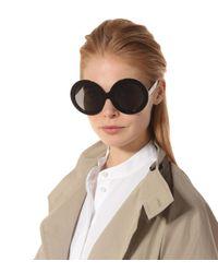 Céline Black Runde Sonnenbrille