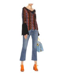 Jeans Le Crop Mini Boot di FRAME in Blue