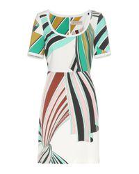 Emilio Pucci Green Printed Stretch-twill Dress