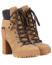 See By Chloé Natural Ankle Boots Eileen aus Veloursleder