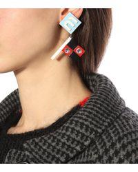 Miu Miu - Red Clip-on Earrings - Lyst
