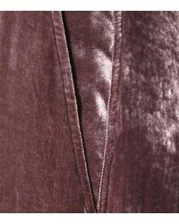 Rick Owens Brown Cropped Velvet Pants