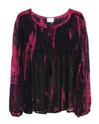 Anna Kosturova Pink Silk Blouse