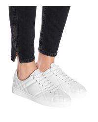 Burberry White Leather Sneakers