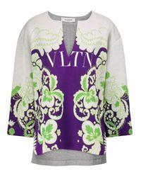 Valentino Purple Vltn Printed Sweatshirt
